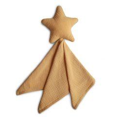 Mushie Lovey Blanket Star Fall Yellow